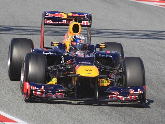Sebastian Vettel během trestů v Barceloně.
