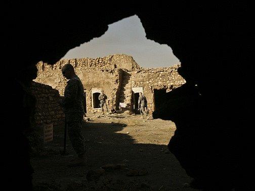 Poničený klášter svatého Eliáše.