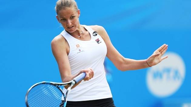Karolína Plíšková na turnaji v Eastbourne.