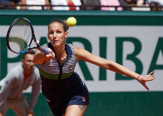 Karolína Plíšková na Roland Garros.