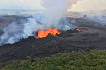 Erupce sopky Kilauea na Havaji