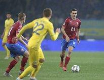 David Pavelka (vpravo) proti Ukrajině.