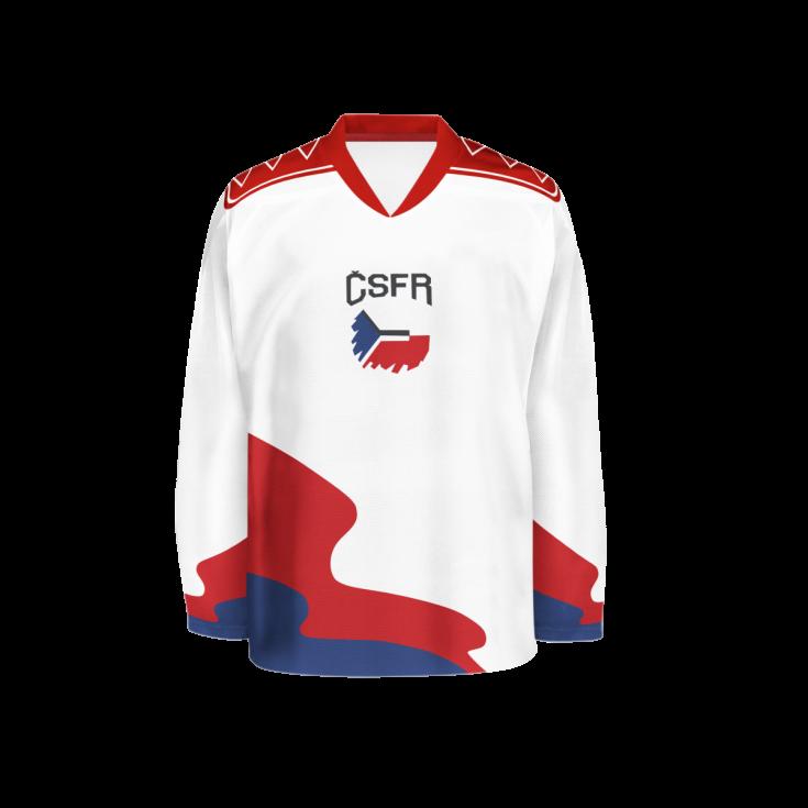 Hokejový dres z roku 1992.