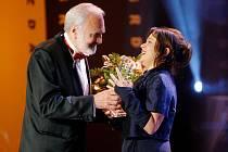 Prvním gratulantem nejoblíbenější herečce byl Zdeněk Svěrák