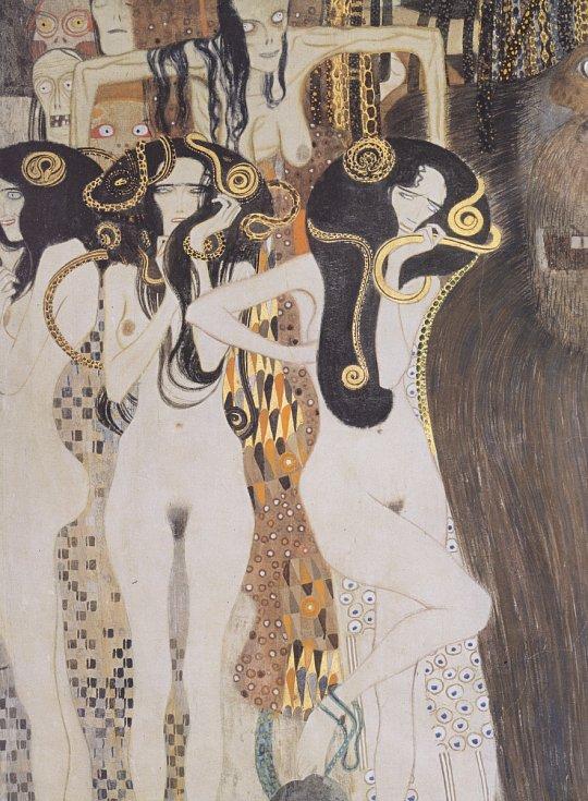Gustav Klimt: Medúsa a Týfón