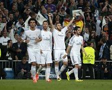 Fotbalisté Realu Madrid se radují: po výhře 1:0 nad Bayernem Mnichov si přiblížili finále Ligy mistrů.