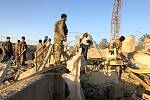 Afghánské bezpečnostní síly na místě útoku sebevražedného atentátníka v afghánském městě Kalát, které je správním střediskem provincie Zábul na jihu země