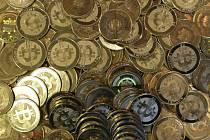 Kybernetická měna bitcoin. Ilustrační snímek