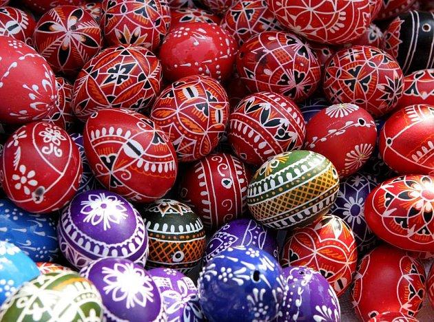 Velikonoční vajíčka na Zelném trhu v Brně.