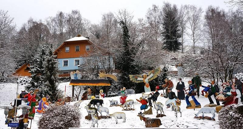 Venkovní jesličky v Radentheinu v Rakousku