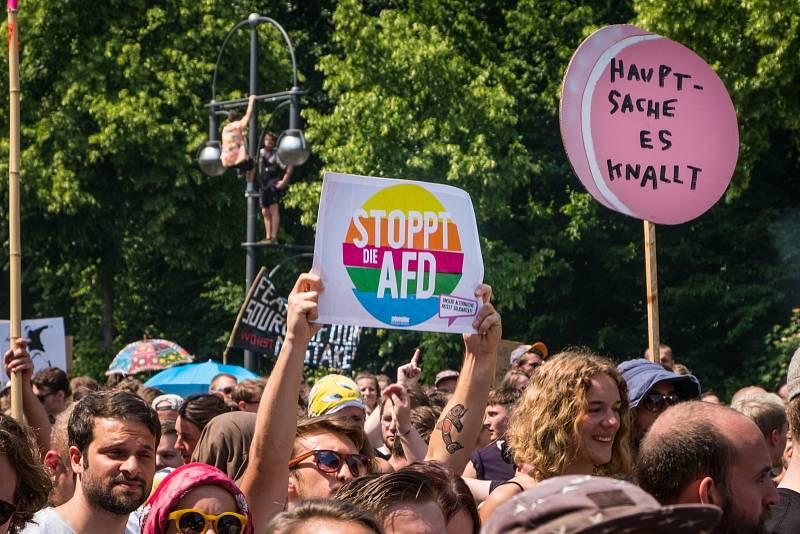 Řadě Němců je AfD trnem v oku. V minulosti proti politice strany opakovaně demonstrovali.