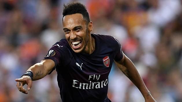 Útočník Arsenalu Pierre-Emerick Aubameyang.