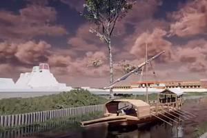Vizualizace dobývání aztéckého Tenochtitlánu Španěly