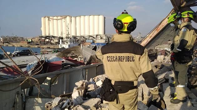 Český tým USAR pomáhá pátrat po pohřešovaných v libanonském Bejrútu