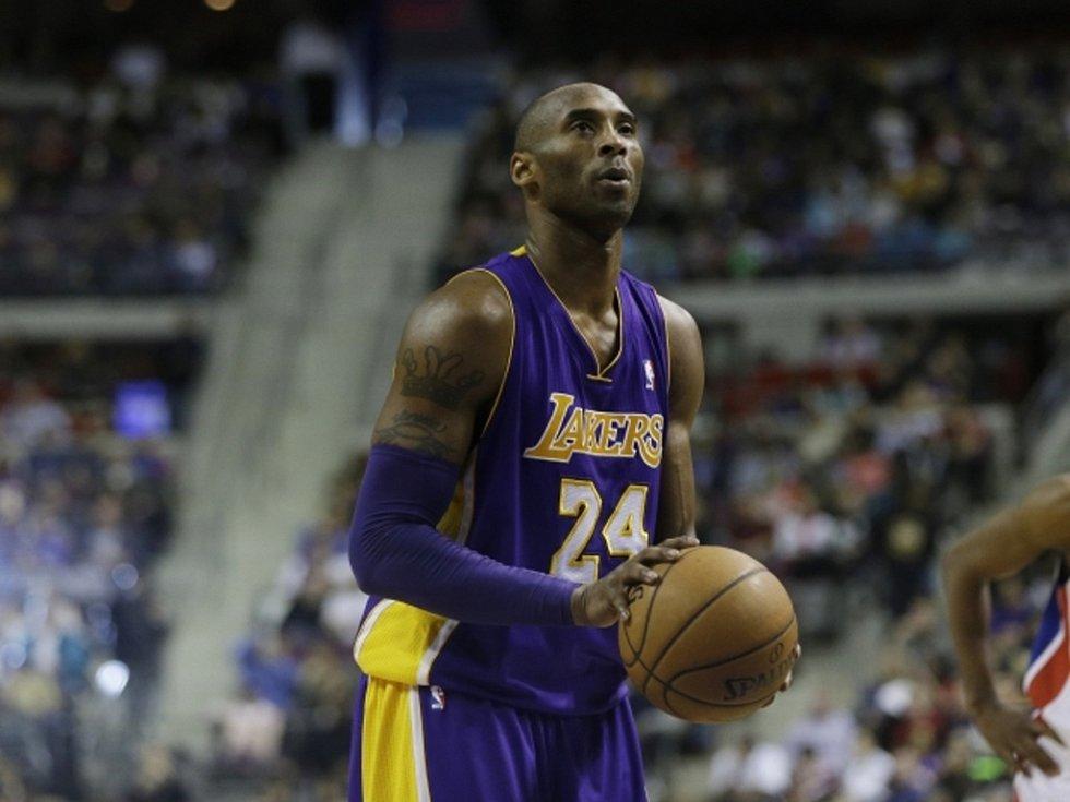 Hvězda LA Lakers Kobe Bryant.