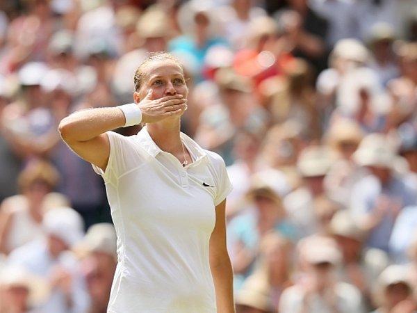 Petra Kvitová po postupu do finále děkuje fanouškům.