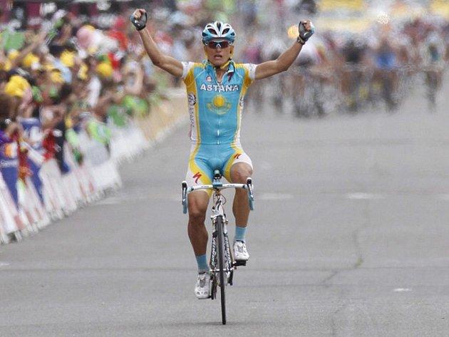 Alexander Vinokurov v cíli třinácté etapy Tour de France.