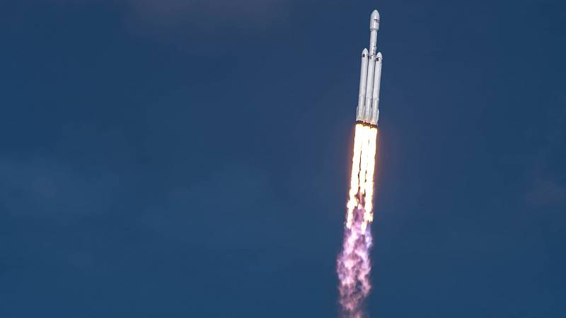 Start rakety Falcon Heavy.