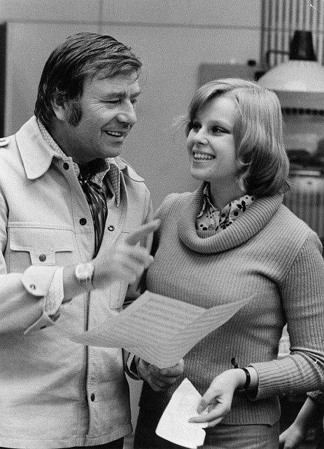 Karel Weinlich s Lenkou Kořínkovou v roce 1969