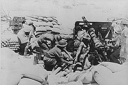 Indičtí vojáci v bitvě o Keren v roce 1941