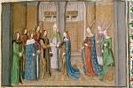 Vliv církve na sňatky a rodinný život středověkých párů byl značný. Následky pociťujeme dodnes, říká nová studie (na snímku iluminace svatby antiochijského knížete Bohemunda a dcery francouzského krále Filipa I. Constance ve 12. století)