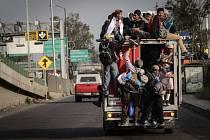 Karavana migrantů vyrazila z Mexico City dál na sever