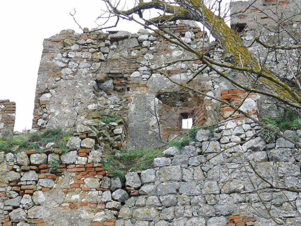 Stavba tvoří protáhlý, nepravidelný obdélník, asi 65 metrů dlouhý a přibližně 20 metrů široký, uzavřený vysokou hradební zdí. Postrádá se na ní typická věž, která bývala součástí středověkých hradů.
