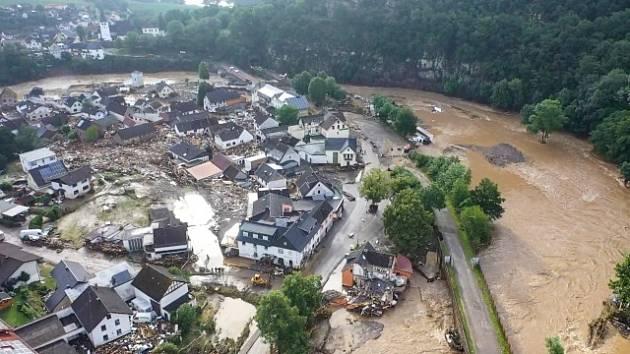 Povodeň v Německu.