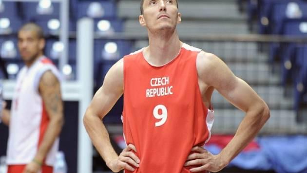 Jiří Welsch na tréninku české reprezentace