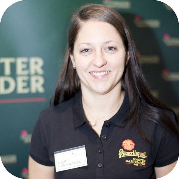 Vítězka regionálního kola soutěže Pilsner Urquell Master Bartender Lucie Hankocyová