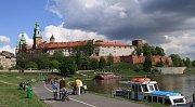 Vrch Wawel s královským hradem v Krakově