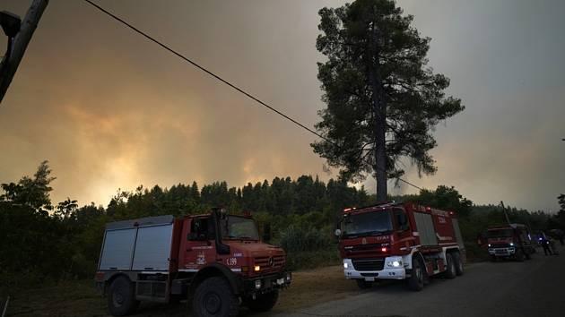 Lesní požáry na ostrově Euboia