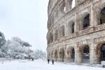 Do italské metropole dorazila arktická zima