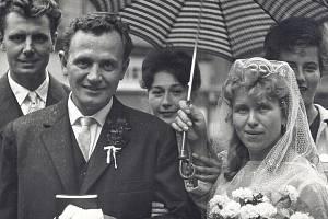 Svatební foto Alice a Ludvíka.