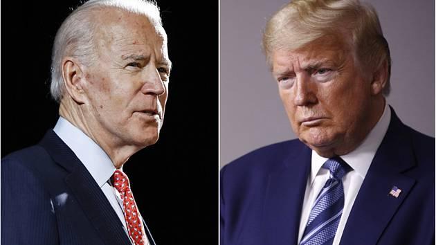 Bývalý viceprezident Joe Biden (vlevo) a současný americký prezident Donald Trump.