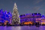 Vánoční trhy v Bruselu.