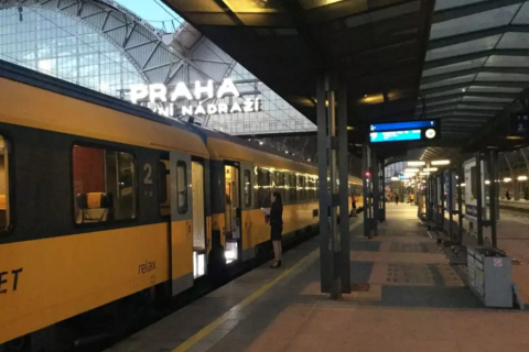První vlak RegioJetu do Maďarska.