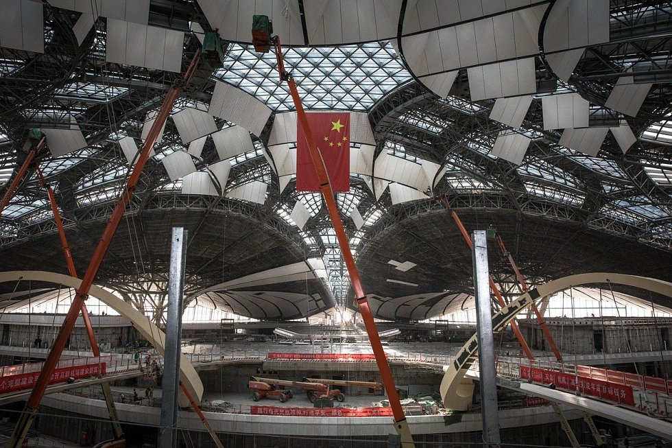 Výstavba Pekingského mezinárodního letiště Daxíng