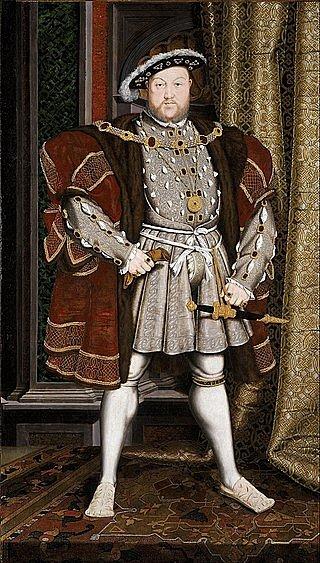 Po zranění Jindřich VIII. v pozdějším věku přestal sportovat. Jeho nezdravý životní styl a přejídání vedly k velkému přibírání na váze. Autorem malby je Hans Holbein mladší.