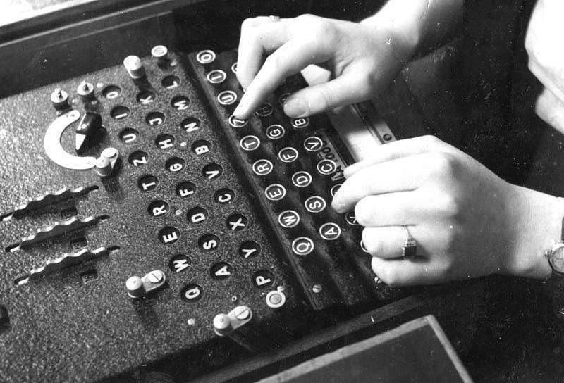 Enigma při použití v roce 1943