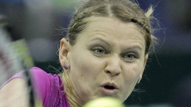Lucie Šafářová v semifinále turnaje v Moskvě.