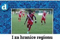 Divizní fotbalisté Slavičína (v modrém) v rámci středečního 1. kola MOL Cupu doma vyřadili třetiligový Frýdek-Místek v prodloužení 3:2.