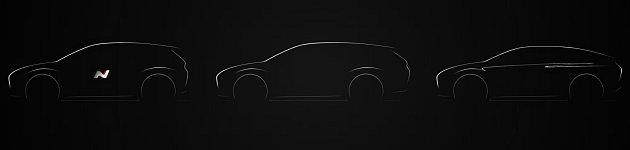 Nový Hyundai i30 dorazí nejen jako hatchback, ale ijako kombík a fastback (vpravo). Bude iostrá verze N.