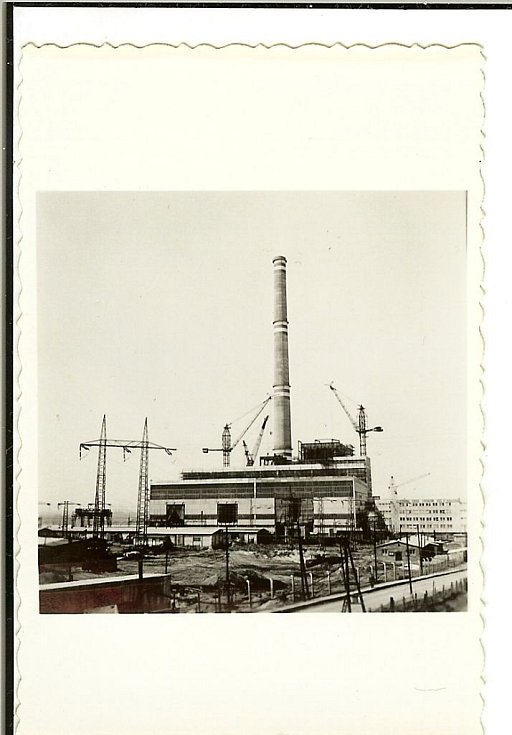 Elektrárna Ledvice - výstavba (1960)