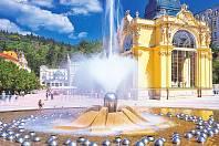 Zpívající fontána v Mariánských Lázní.