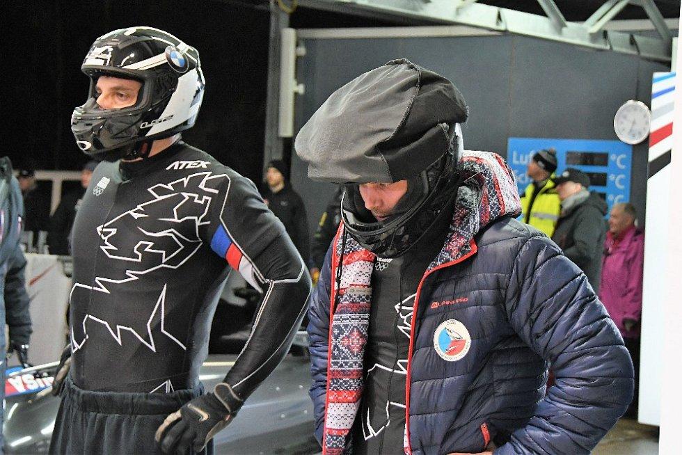 Jan Vrba a Jakub Havlín na startu.