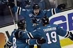 Hokejový útočník Tomáš Hertl (48)byl vyhlášen nejlepším hráčem třetího finálového utkání Západní konference NHL.