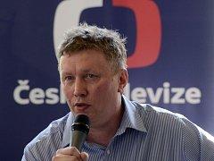 Tomáš Motl, výkonný ředitel nového kanálu České televize ČT art, vystoupil 17. července v Praze na tiskové konferenci.