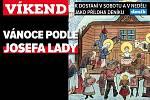 Vánoce podle Josefa Lady, upoutávka na magazín Víkend.