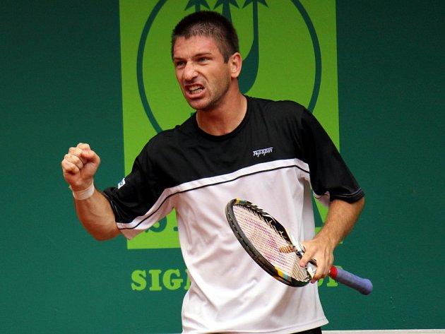 Jan Hájek na UniCredit Czech Open v Prostějově.